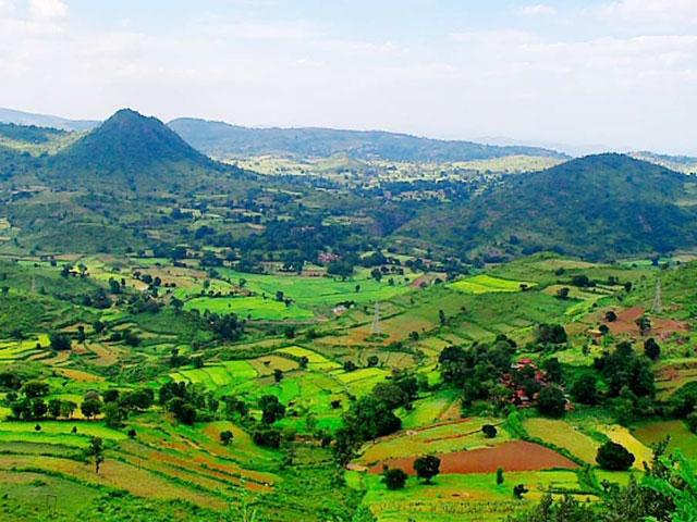 Araku Valley Hill Top in Andhra Pradesh in South India