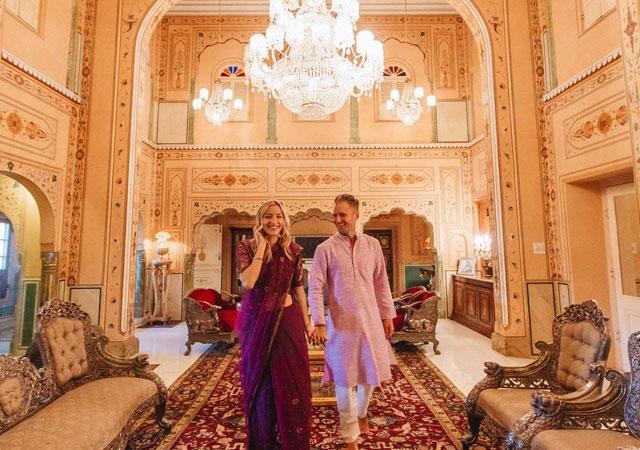 honeymoon at Raj Palace jaipur
