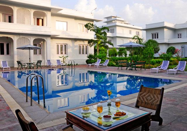 honeymoon at Udaivilas palace Bharatpur