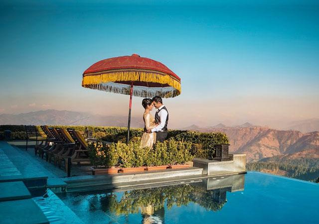honeymoon at Wildflower Hall, Shimla