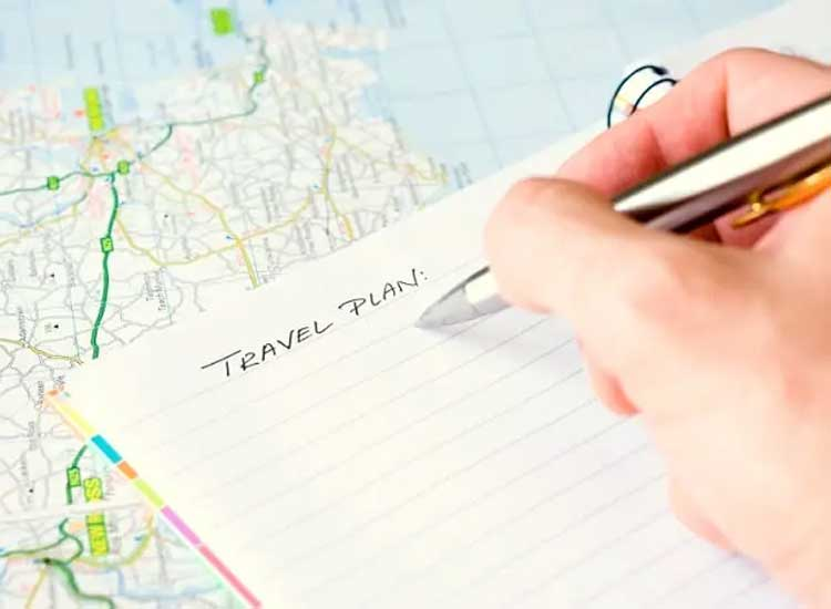 Travel plan for India