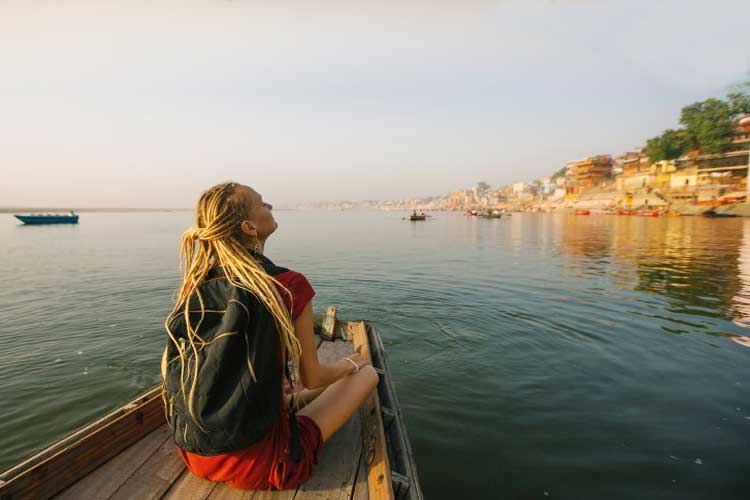 relaxing boat ride at varanasi